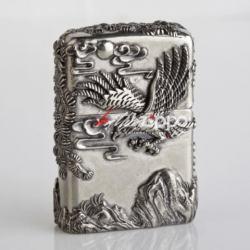 Bật lửa Zippo chính hãng bạc nguyên khối khắc thế phong thủy Đại bàng tung cánh - Mã SP: ZPC0090