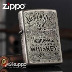 Bật lửa Zippo phiên bản Antique Bạc Dòng Jack Daniels 81 - Mã SP: BL00702